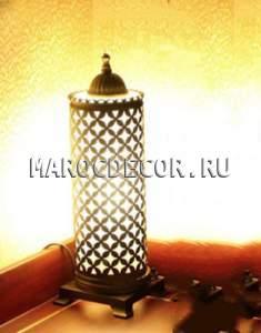 Восточная лампа настольная арт. Т-171A, турецкая, чеканка
