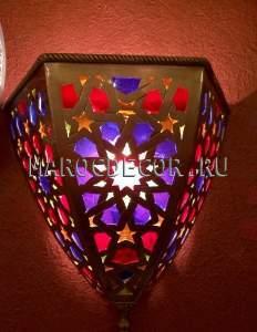 Cветильник для хамама арт.01 « JASMIN» ,тардиционный марокканский узор, цветные стекла