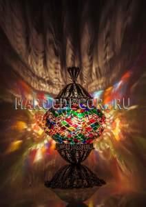 Восточная лампа арт. TFM-012, мозаичный плафон , турецкая