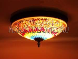 Мозаичный светильник потолочный арт.СМ-040/2