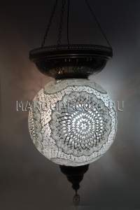 Большой мозаичный шар белый 50см арт.HM-50B