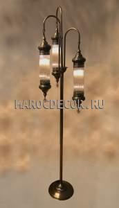 Напольный светильник с 3 стеклянными плафонами арт.LY-33