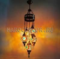 Люстра 5 плафонов турецкая мозаика арт.HM-05/14