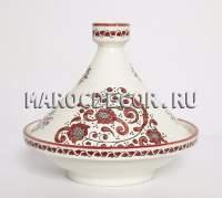 Декоративный тажин с росписью конусообразной формы
