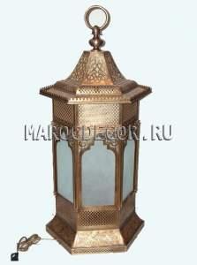 Настольная марокканская лампа фонарь арт.Lamp-54