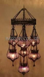 Восточная ажурная люстра в османском стиле арт. CFM-074/7