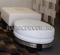 Марокканские кожаные пуфы