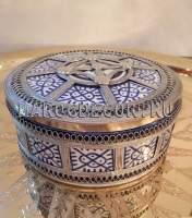Марокканская шкатулка с чеканкой арт.SK-07