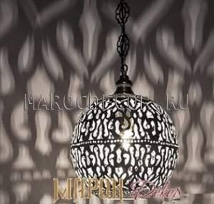Восточный подвесной светильник арт.HEK-35-1, латунная чеканка