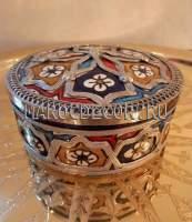 Марокканская шкатулка с чеканкой арт.SK-08