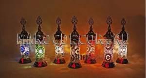 Настольная мозаичная лампа в восточном стиле  арт.ТМ-049, турецкая мозаика ручной работы.