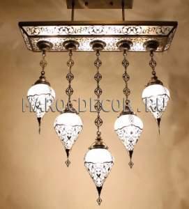 Восточная люстра арт.CO-L90-33LY-5,  турецкий стиль, стеклянные плафоны